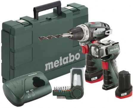 Aku vrtačka METABO PowerMaxx BS Basic Set